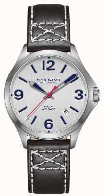 Hamilton Khaki Luftrennen 38mm schwarzes Leder H76225751