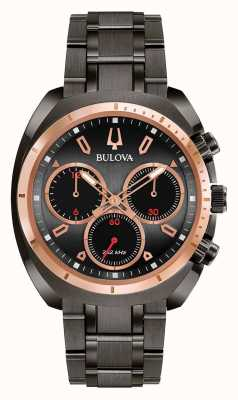 Bulova Herren sport curv schwarz Ionen-Armband 98A158