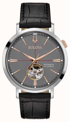 Bulova Herren klassisches automatisches Grau 98A187