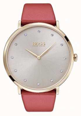 Hugo Boss Womans Jillian Gold Ton überzogener Fall tan Leder 1502411