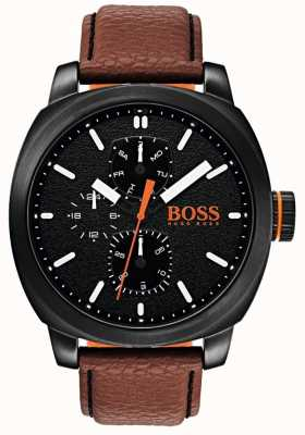 Hugo Boss Orange Mens capetown Uhr schwarzes Zifferblatt 1550028