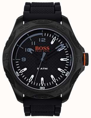 Hugo Boss Orange Herren Honolulu Uhr in schwarzem Gummi 1550032