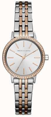 Armani Exchange Womans zwei Ton Edelstahl Armband AX5542