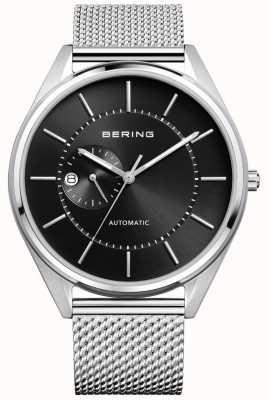 Bering Herren automatisches Milanese Silber Stahl Armband 16243-077