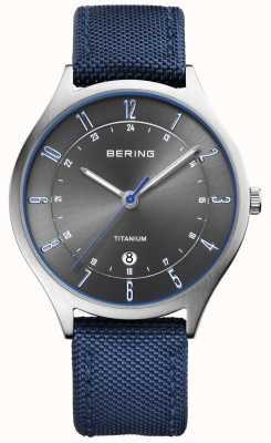 Bering Herren ultraleichtes Titan Nylon blau 11739-873