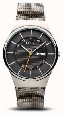 Bering Herren klassisches Multifunktions-Silber-Mesh-Armband 12939-077
