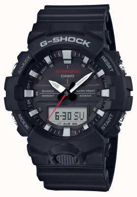 Casio Herren G-Schock Alarm Chrono Gummiband schwarz GA-800-1AER