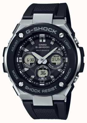 Casio g-shock g Stahl mittelgroßer Alarm Chrono schwarz GST-W300-1AER