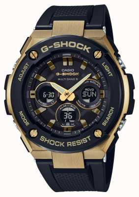 Casio Mens g-shock g-Stahl haltbar Solaruhr Gold GST-W300G-1A9ER