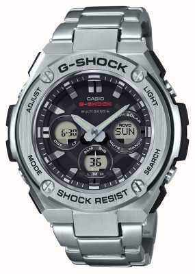 Casio Mens g-shock G-Stahl mittelgroßer Alarm Chrono Edelstahl GST-W310D-1AER