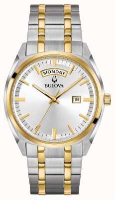 Bulova Mens klassischen zwei Ton Stahl Armband 98C127