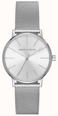 Armani Exchange Womans Edelstahl Mesh Armband AX5535