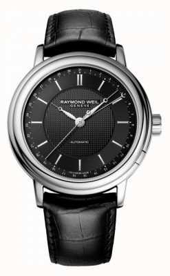 Raymond Weil Mens Maestro automatisches schwarzes Leder 2851-STC-20001