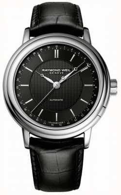 Raymond Weil Herren Maestro Automatik schwarzes Leder 2851-STC-20001