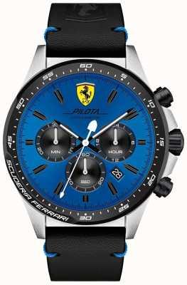 Scuderia Ferrari Herren Pilota blau Chronograph Zifferblatt Uhr 0830388