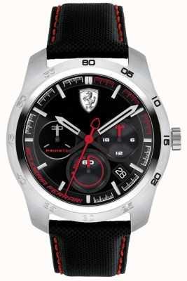 Scuderia Ferrari Primato schwarzes und rotes Zifferblatt 0830444