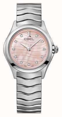 EBEL Womens Diamant-Uhr mit rosafarbenem Zifferblatt 1216268