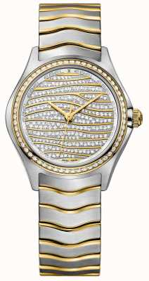 EBEL Womens Welle 58-Diamant 18k Gold Uhr 1216285