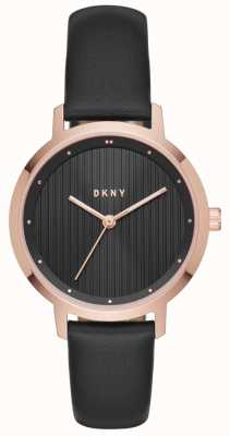 DKNY Womans modernistisches schwarzes Rosengold NY2641