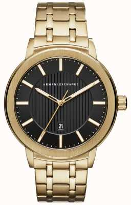 Armani Exchange Mens Gold Ton Metall Armband AX1456