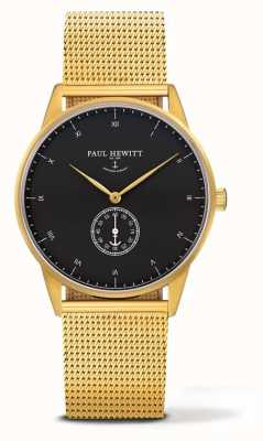 Paul Hewitt Unisex-Signatur-Gold-Tone-Mesh-Armband PH-M1-G-B-4M