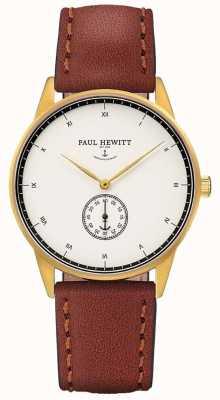 Paul Hewitt Unisex-Unterschrift braunes Lederband PH-M1-G-W-1M