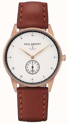 Paul Hewitt Unisex-Unterschrift braunes Lederband PH-M1-R-W-1M