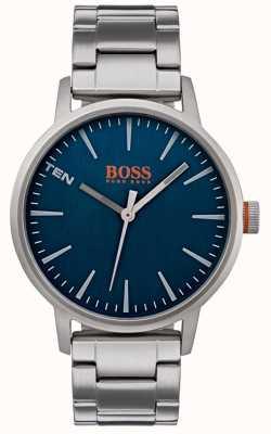Hugo Boss Orange Mens copenhagen Uhr blaues Zifferblatt 1550058