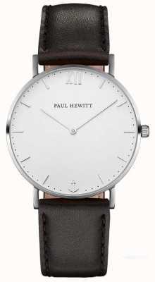 Paul Hewitt Unisex-Seemann schwarzes Lederband PH-SA-S-ST-W-2M