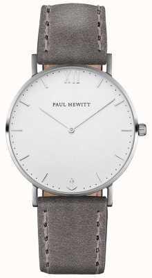 Paul Hewitt Unisex-Seemann graues Lederband PH-SA-S-ST-W-13M
