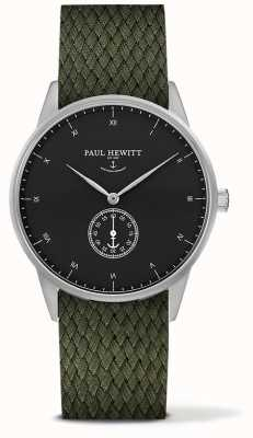 Paul Hewitt Unisex-Unterschrift Oliven-Stoff-Armband PH-M1-S-B-20M