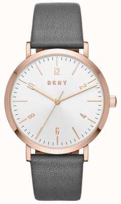 DKNY Damen minetta grau Leder Uhr NY2652