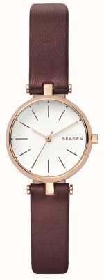 Skagen Womens signatur braune Leder petit Uhr SKW2641
