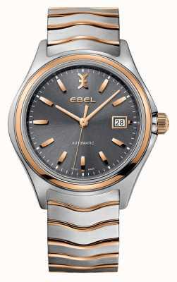EBEL Mens Welle zwei Ton-grau Zifferblatt Uhr 1216333