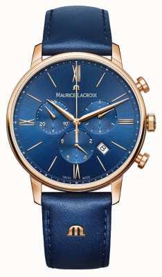 Maurice Lacroix Eliros Chronograph blau und gold Uhr EL1098-PVP01-411-1