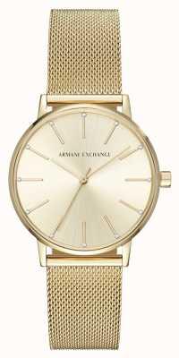 Armani Exchange Womans vergoldet Mesh Armbanduhr AX5536