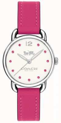 Coach Womans delancey Uhr rosa Lederband 14502906