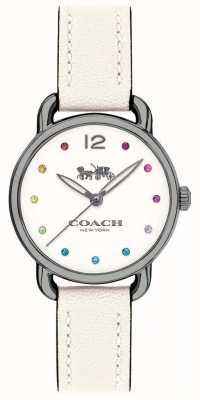 Coach Womans delancey Uhr weißes Lederarmband 14502915