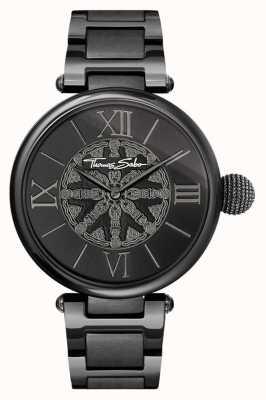 Thomas Sabo Womans Karma schwarz ip Stahl Uhr WA0307-202-203-38