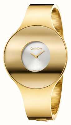 Calvin Klein Womans Gold Ton nahtlose Uhr klein K8C2S516