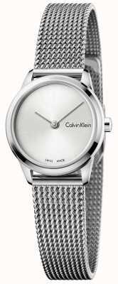 Calvin Klein Womans Minimal Uhr Silber Zifferblatt K3M231Y6