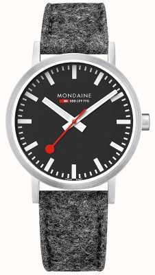 Mondaine Unisex swiss bails classic dunkelgraues Filzlederarmband A660.30360.14SBH