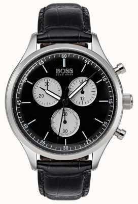 Boss Mens Begleiter Chronograph Uhr schwarz 1513543