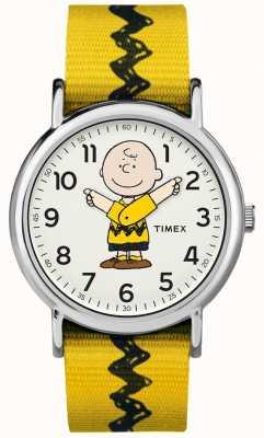 Timex Weekender charlie braune Erdnüsse gelbe Gurt TW2R411006B