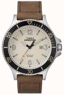 Timex Expedition Ranger Tan Lederband natürliches Zifferblatt TW4B10600D7PF