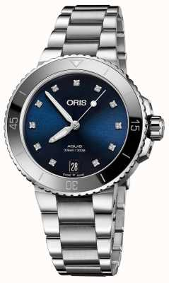 Oris Womens aquis diamond set Stahluhr 01 733 7731 4195-07 8 18 05P
