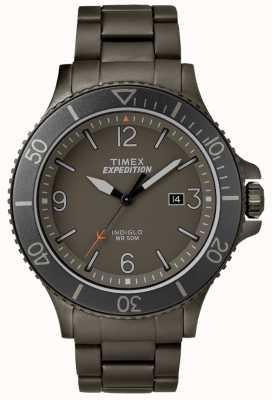 Timex Herren Expedition Ranger Gun Metallarmband graues Zifferblatt TW4B10800