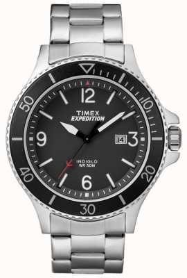 Timex Herren Expedition Ranger Metallarmband schwarzes Zifferblatt TW4B10900