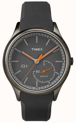 Timex Mens iq plus verschieben grau Silikonband TW2P95000
