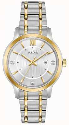 Bulova Klassische Damenuhr aus Edelstahl 98P175